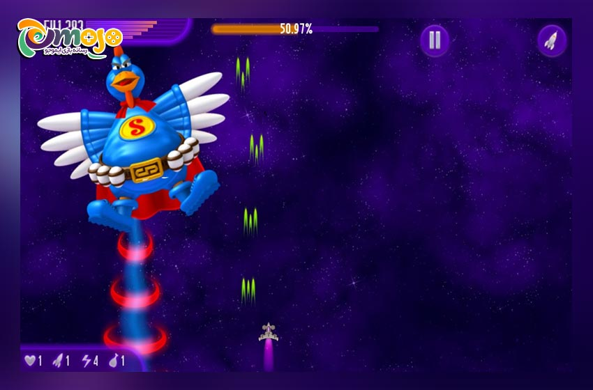 ویژگی ها، قابلیت ها و مزایای بازی chicken invaders 6