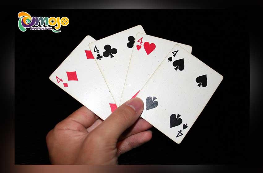 دانلود رایگان بازی 4 برگ (11 تایی) ؛ بازی کارتی جذاب