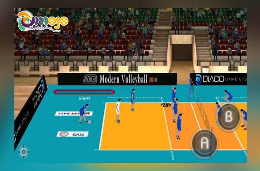 والیبال بازی کردن در گوشی موبایل