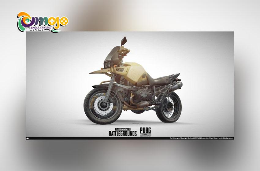 پرسرعت ترین وسیله های نقلیه در پابجی موبایل :موتور سیکلت