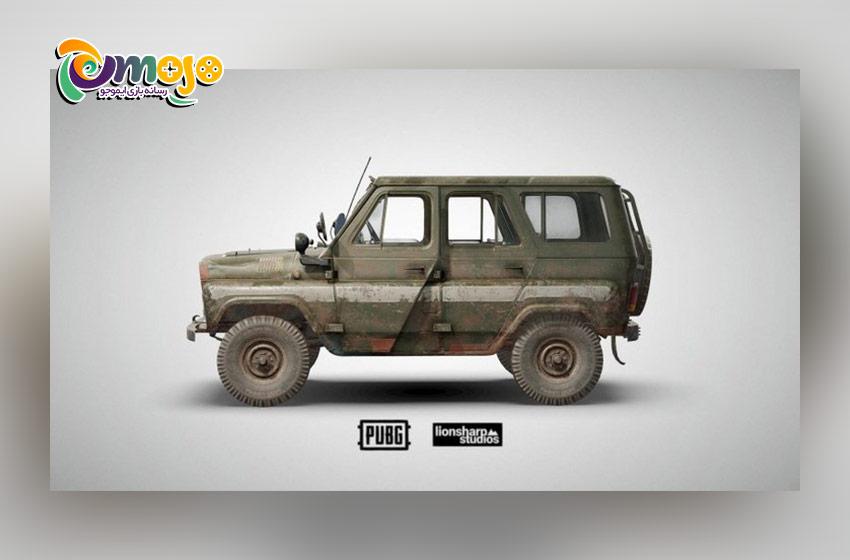 پرسرعت ترین وسیله های نقلیه در پابجی موبایل : Clozed Top UAZ