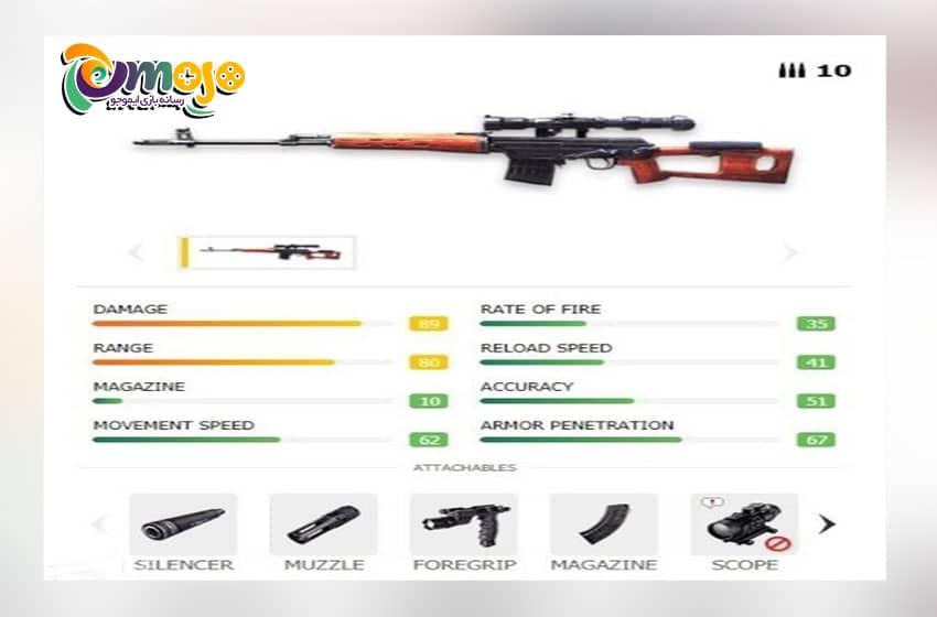 سلاح های فری فایر برای نبردهای دور برد: SVD