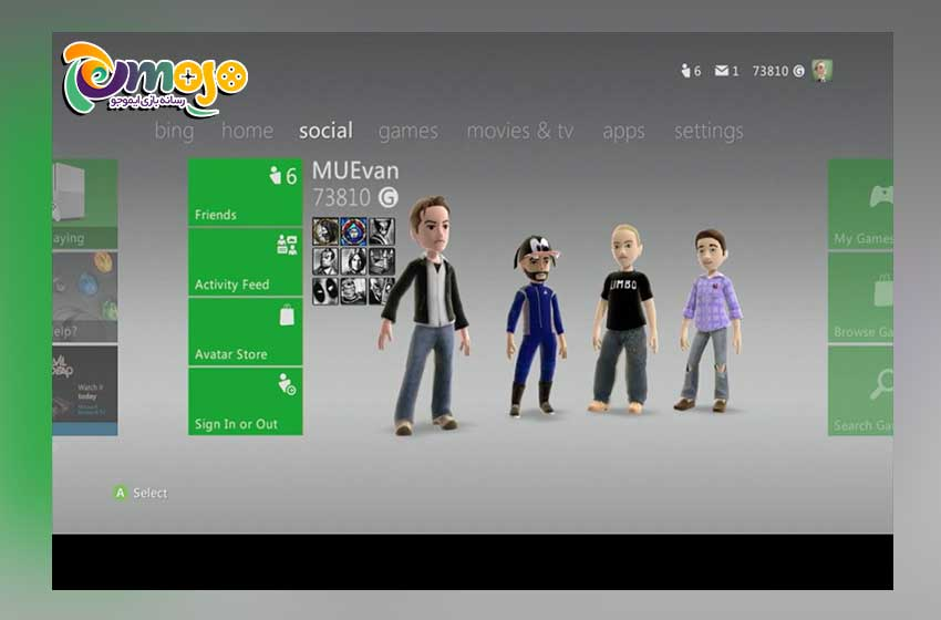 مرحله اول ساخت اکانت Xbox 360