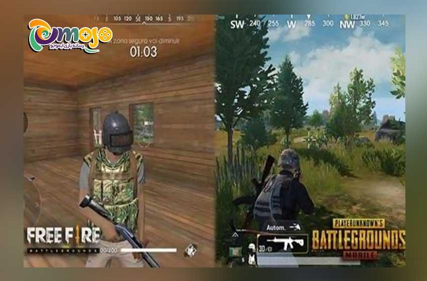 تفاوت های دیگر سلاح های بازی پابجی موبایل و فری فایر