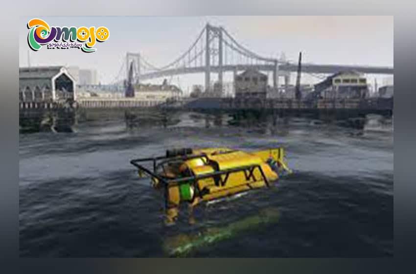 ماموریت های پنهان در بازی GTA 5: ربودن زیر دریایی (Waste-collecting Submarine)